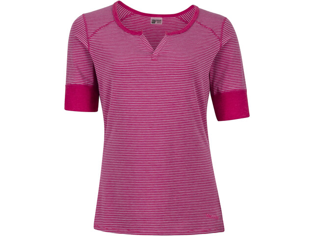 Marmot Cynthia - T-shirt manches courtes Femme - rose/blanc